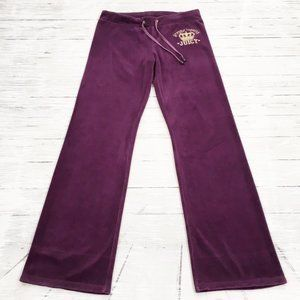 Juicy Couture ~ Velour Embroidered Wide Leg Pants